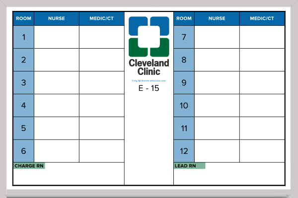 hospital whiteboard sample